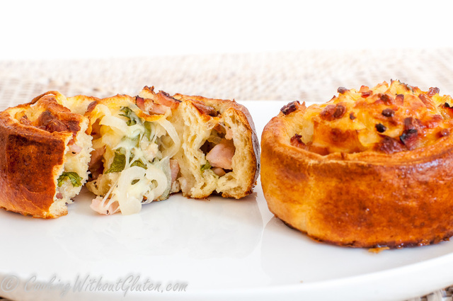 Gluten Free Cheese and Bacon Scrolls