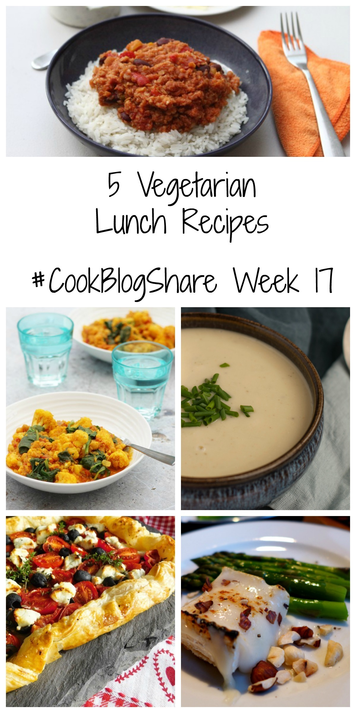5 Vegetarian Lunch Recipes CookBlogShare Week 17