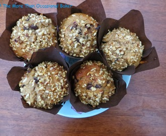 Banana, Peanut Butter and Chocolate Chip Muffins and a review