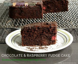 Chocolate & Raspberry Fudge Cake