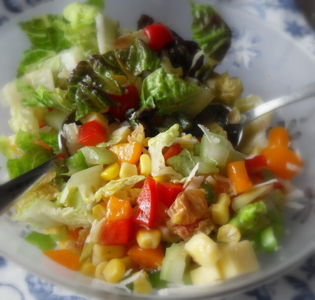 Chopped Salad with a Tangy Lemon Vinaigrette