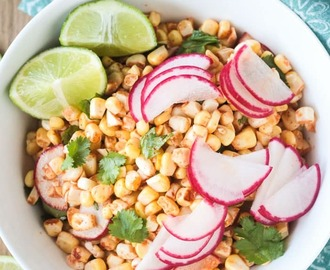 Raw Corn Radish Salad (Gluten Free, Oil Free)