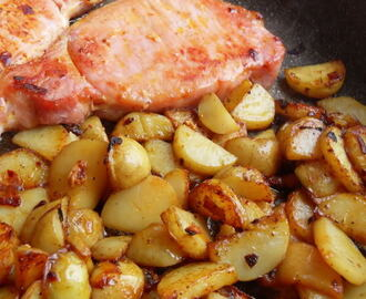 Bacon Chops and Fried Potatoes