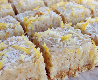 Raw Vegan Lemon Coconut Slice