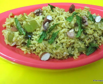 Ridge Gourd Rice / Beerakaya Annam - Blogging Marathon Day 1