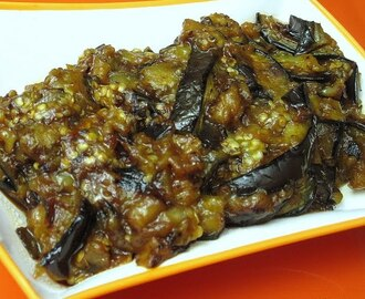 Fiery Eggplant ~ Roasted Eggplant in Sweet and Sour Sauce