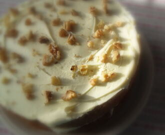 Iced Walnut Cake