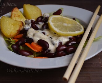 Kidney Bean Salad/Rajma Salad