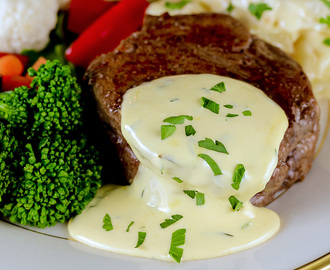 Filet Mignon Steaks with Homemade Bearnaise Sauce (Gluten-Free)