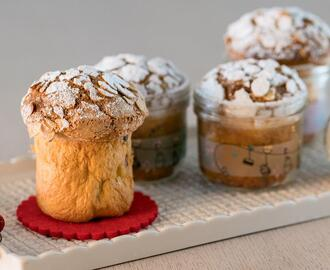 Muffin panettone in vasetto