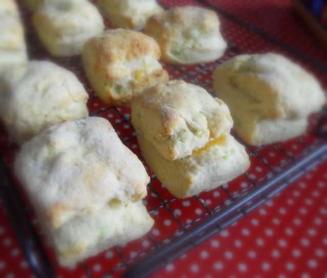 Cheese Filled Cornmeal Scones