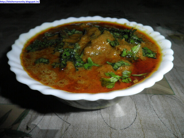 Mutton Liver Curry / Kaleji