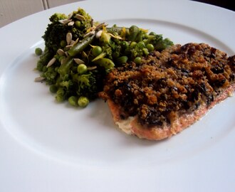 Baked Salmon With A Mediterranean Crumb Crust