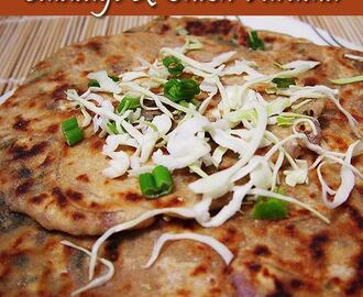 CABBAGE ONION PANEER PARATHA
