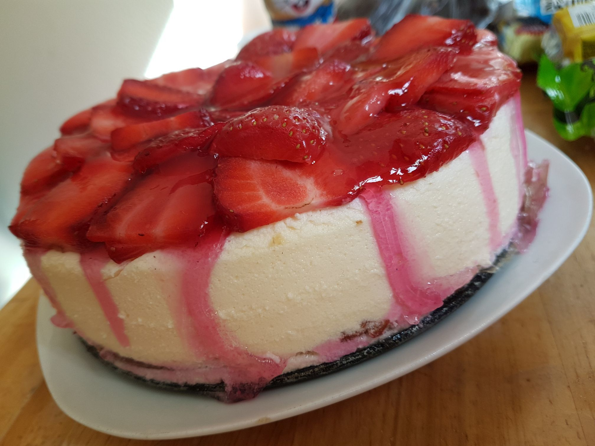 Rezept: Low Carb Strawberry Cheesecake