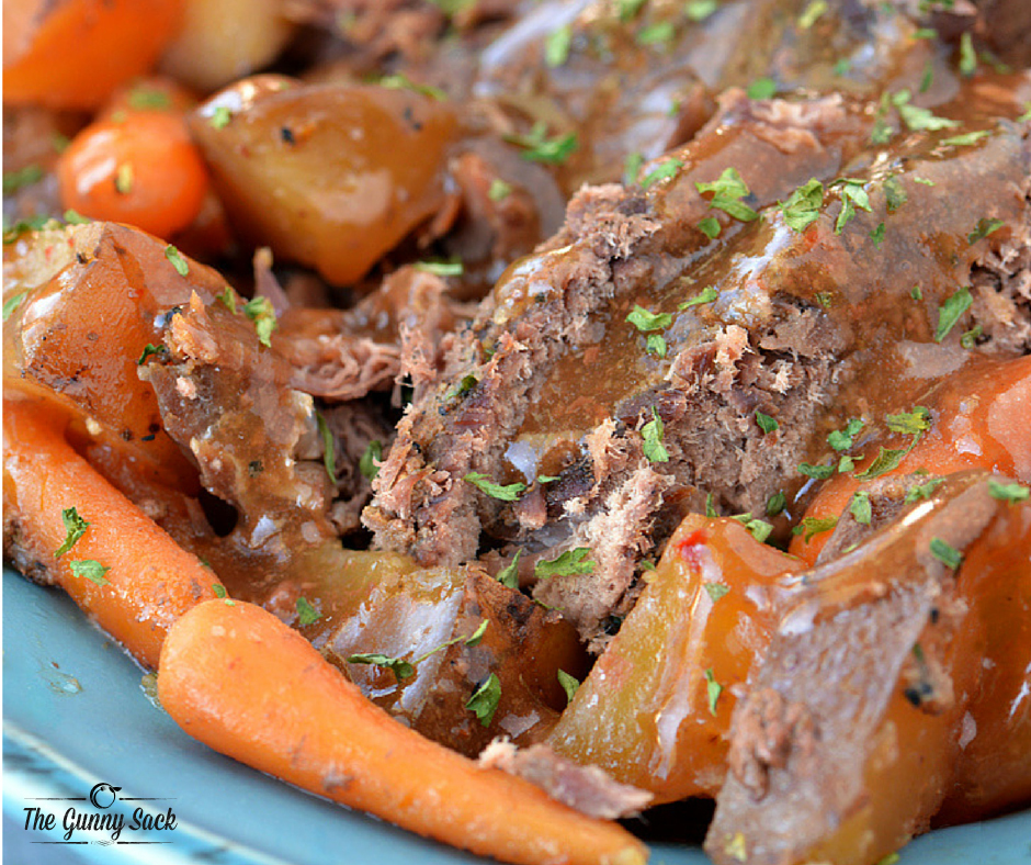 Slow Cooker Pot Roast with Video