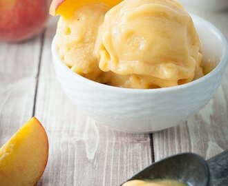 3 Ingredient Blender Peach Ice Cream