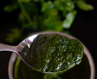 Sandwich Chutney / Green Chutney for Sandwich / Sandwich with Green chutney