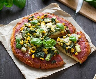 Chock-Full-of-Veggies Pizza with Chickpea Crust