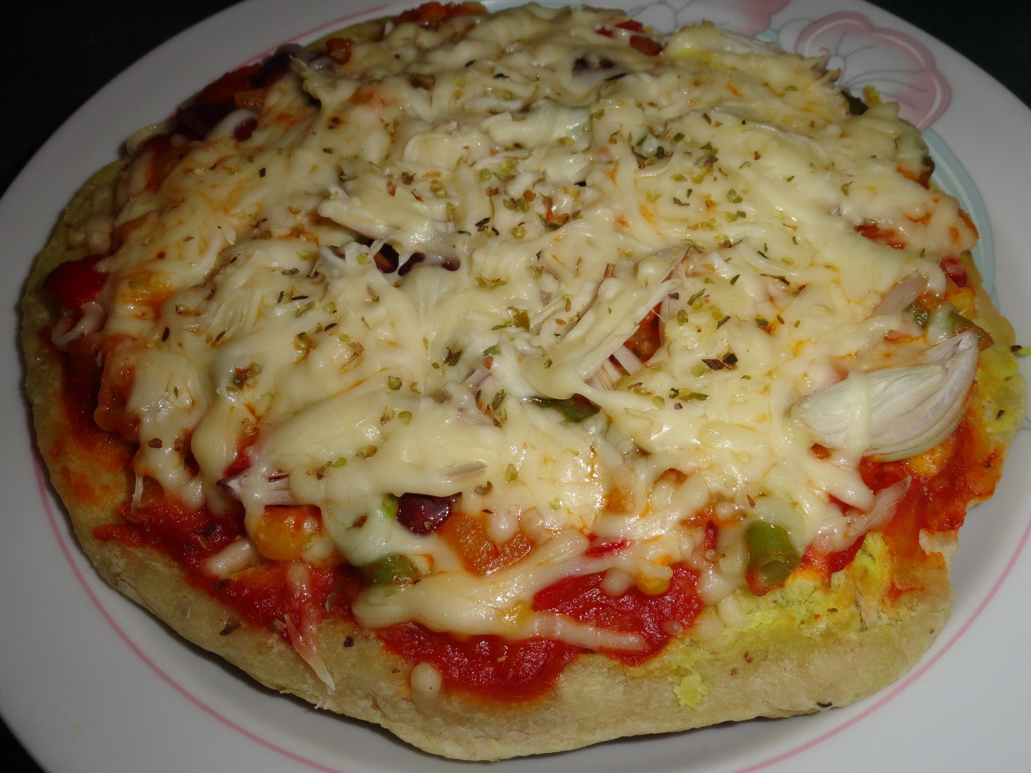 Veggie Pizza on stove top