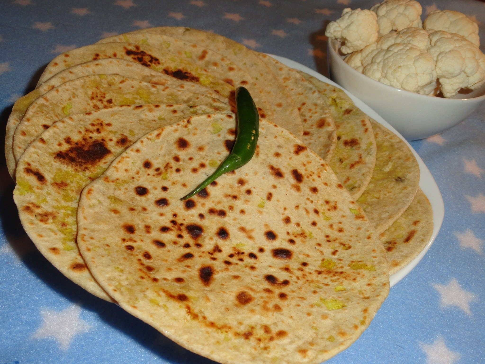 Gobi Paratha/Cauliflower Stuffed Flat Bread