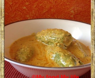New and improvised - Stuffed Parwal in a nutty gravy