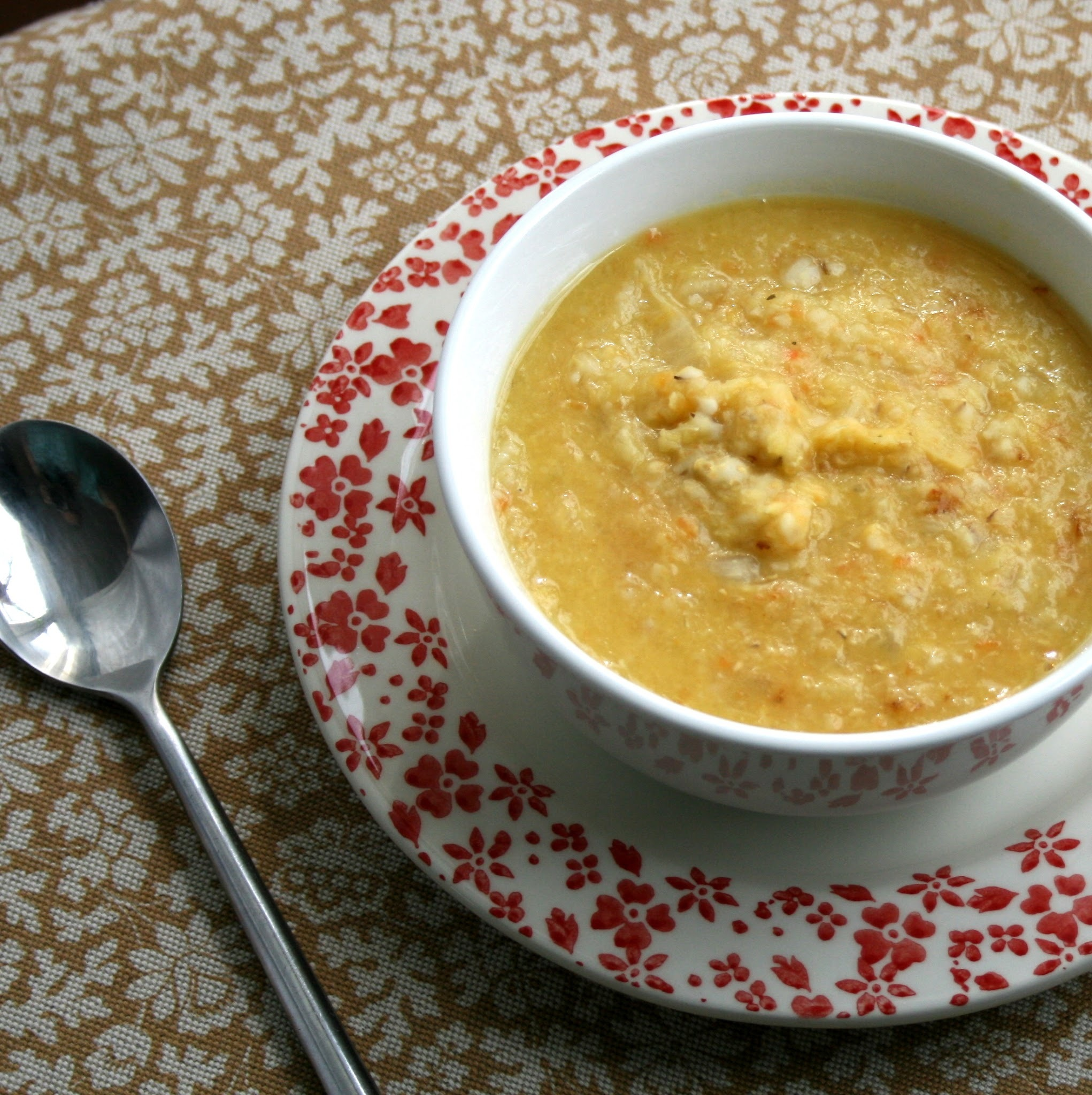 Cabbage, Barley & Red Lentil Soup