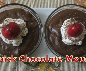 Quick Chocolate Mousse without Gelatin