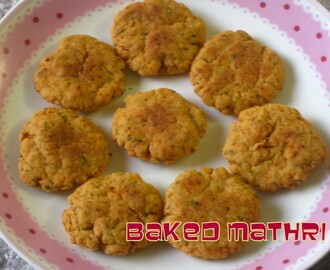 Baked Mathri....deep fry days are gone