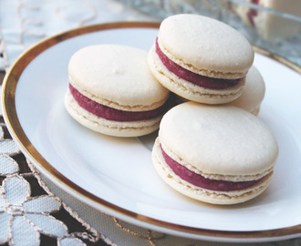 Raspberry and White Chocolate Macarons