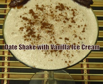 Date Shake with Vanilla Ice Cream