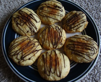 Coconut Cookies with chocolate drizzle !!