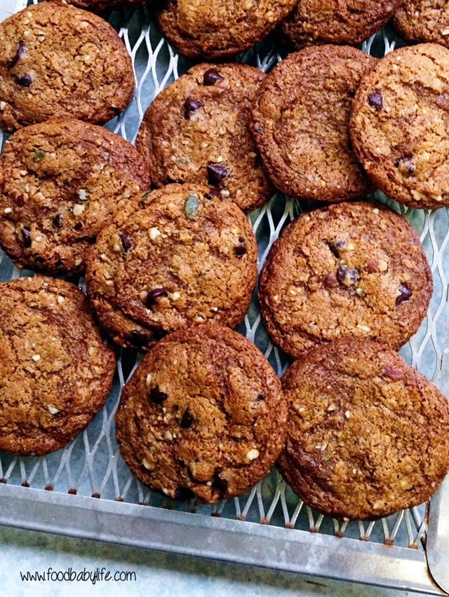 Coconut Oil Dark Chocolate and Nut Cookies