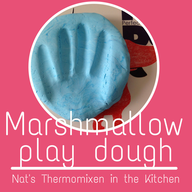Marshmallow play dough