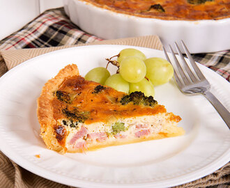 Leftover Ham, Cheese and Broccoli Quiche