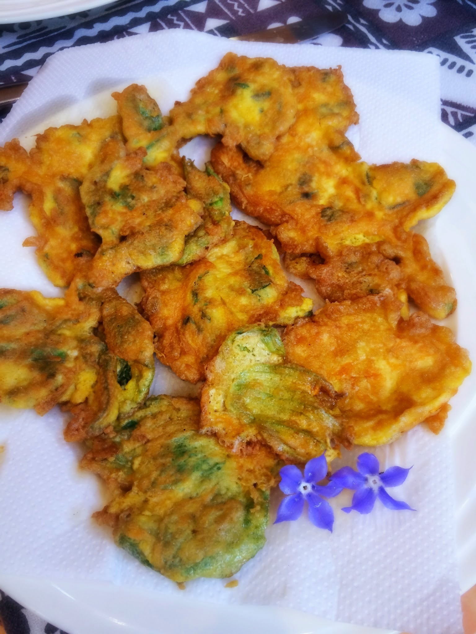 Parmesan and Borage fritters: four ingredients, gluten free!