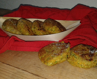 Mini hamburger di zucchine e carote