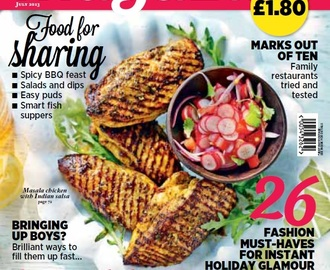 Indian BBQ Masala Chicken Recipe & Sainsburys Magazine Front Cover Feature