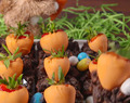 Carrot Patch Brownie Cups