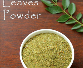 Curry Leaves Powder/Karuvepillai Podi