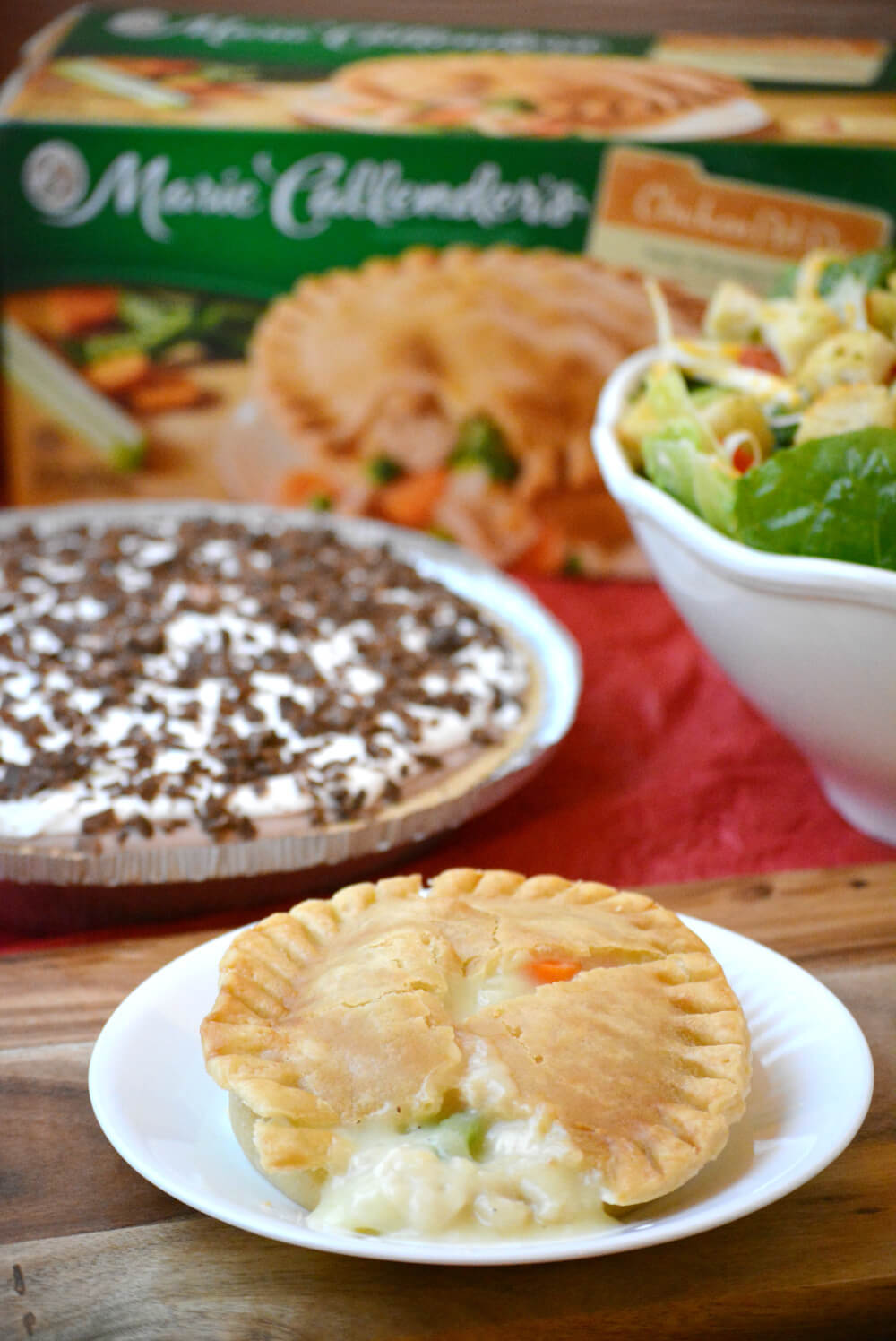 Marie Callender's Pot Pies  plus a No-Bake Chocolate Pudding Pie for an easy dinner idea for your family!