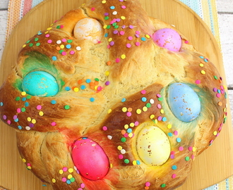 Italian Easter Bread #EasterRecipes #BreadBakers