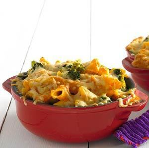 Broccoli cheese met penne en mascarponesaus