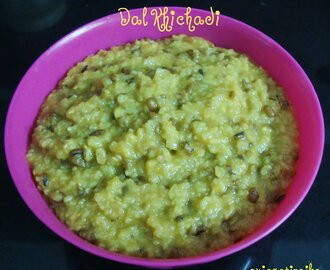 Dal Kichadi -  Easy one pot meal recipe
