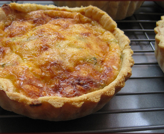 Leek Bacon Parmesan and Cheddar Quiche Recipe