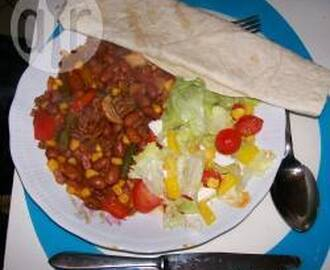 Chili con carne met wraps