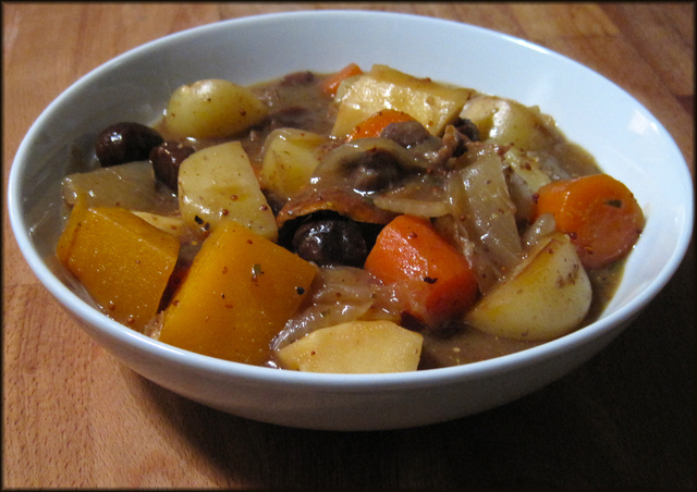 Vegetarian Stew with Potatoes Parsnip Swede and Chestnuts