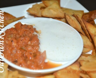 Salsa Sauce and Sour Cream Dip