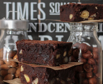 Bananen Nuss Brownies