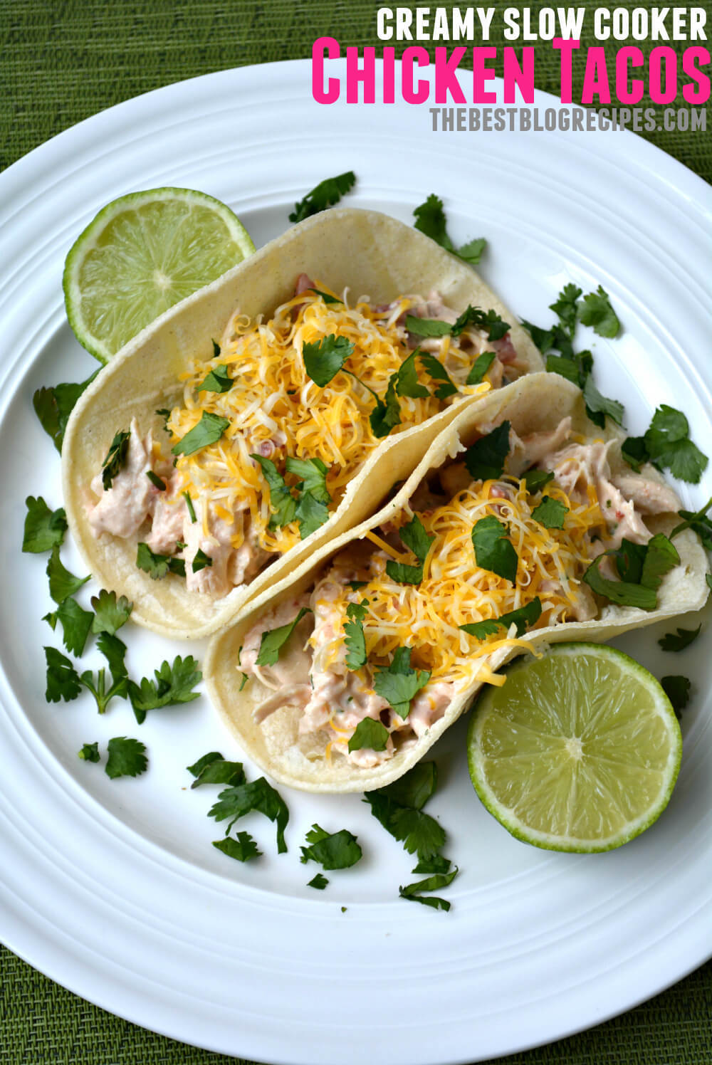 Creamy Slow Cooker Chicken Tacos